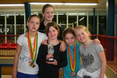 3de plaats in KNZB Breedtesport competitie voor Schoonspringers WVZ