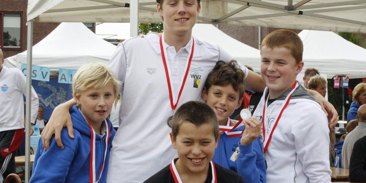 WVZ jongens actief bij open water wedstrijd