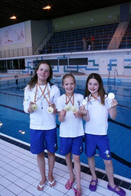 Schoonspringsters WVZ behalen 4x goud en 2x zilver in Brussel.