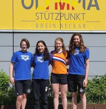 4 WVZ zwemsters op KNZB trainingsstage in Heidelberg (Duitsland)