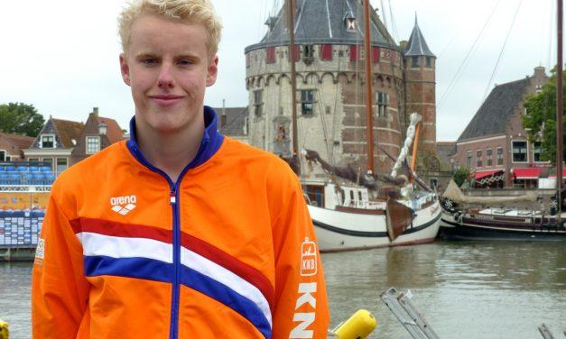 Sterk internationaal debuut voor Thomas bij WJK Open Water