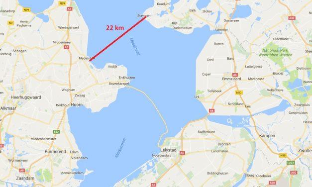 Linda 7e bij zware IJsselmeeroversteek