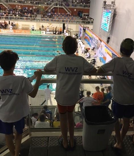 WVZ minioren zwemmen de Minior Swim Cup Eindhoven