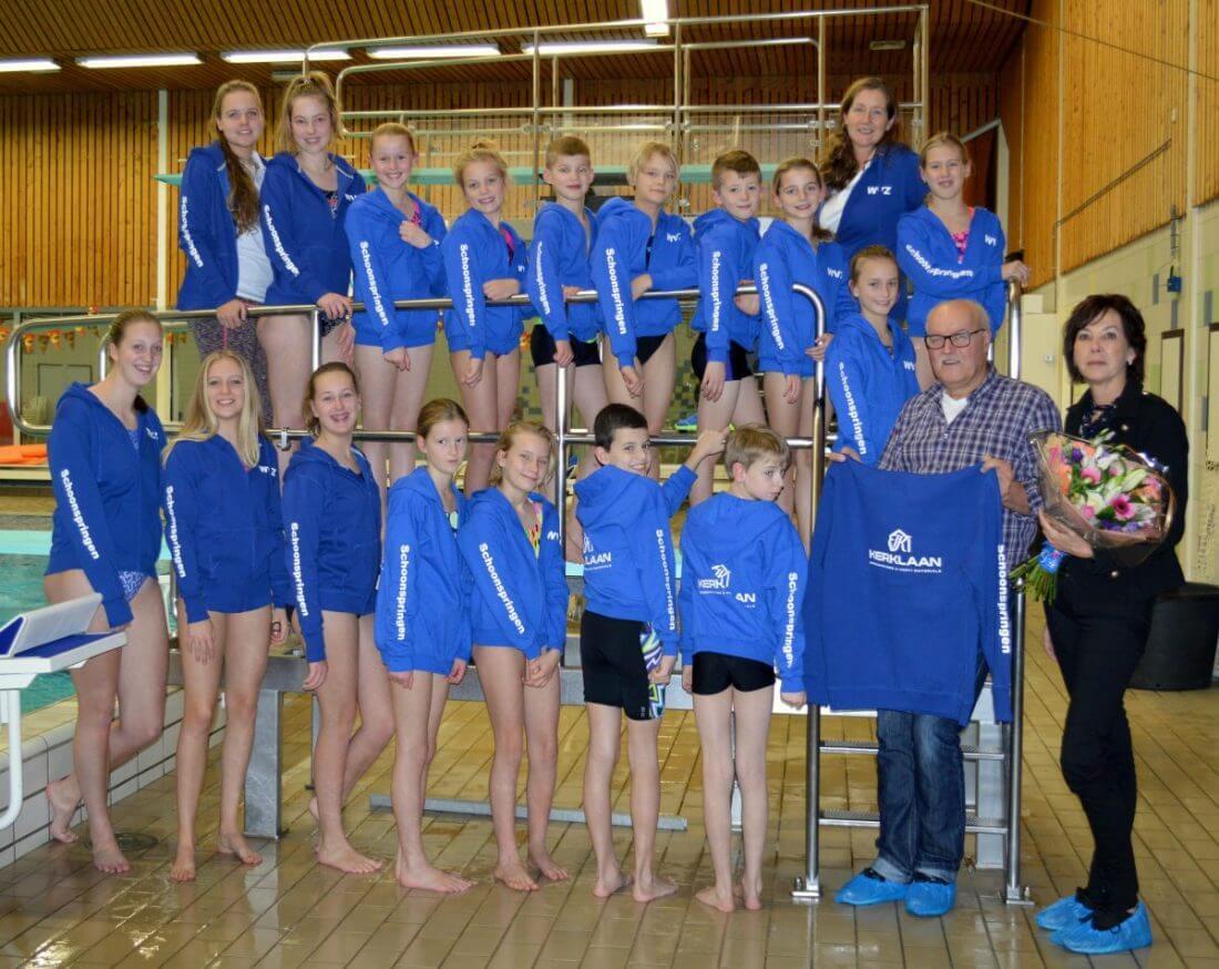 """Eerste sponsor """"Joost Kerklaan BV"""" voor de afdeling Schoonspringen WVZ."""