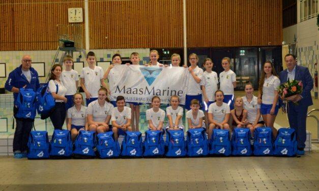 """Nieuwe sponsor """"Maas Marine & industrial Equipment"""" voor de afdeling Schoonspringen WVZ."""