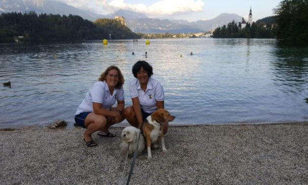 Yvette en Linda in actie tijdens Europese Masters Kampioenschappen in Slovenië