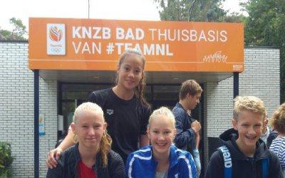 Ananda, Jade, Jelsie en Daan naar testdag KNZB+programma