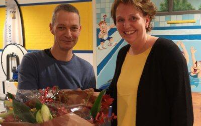 Hilde Pardon neemt afscheid als penningmeester wedstrijdzwemmen
